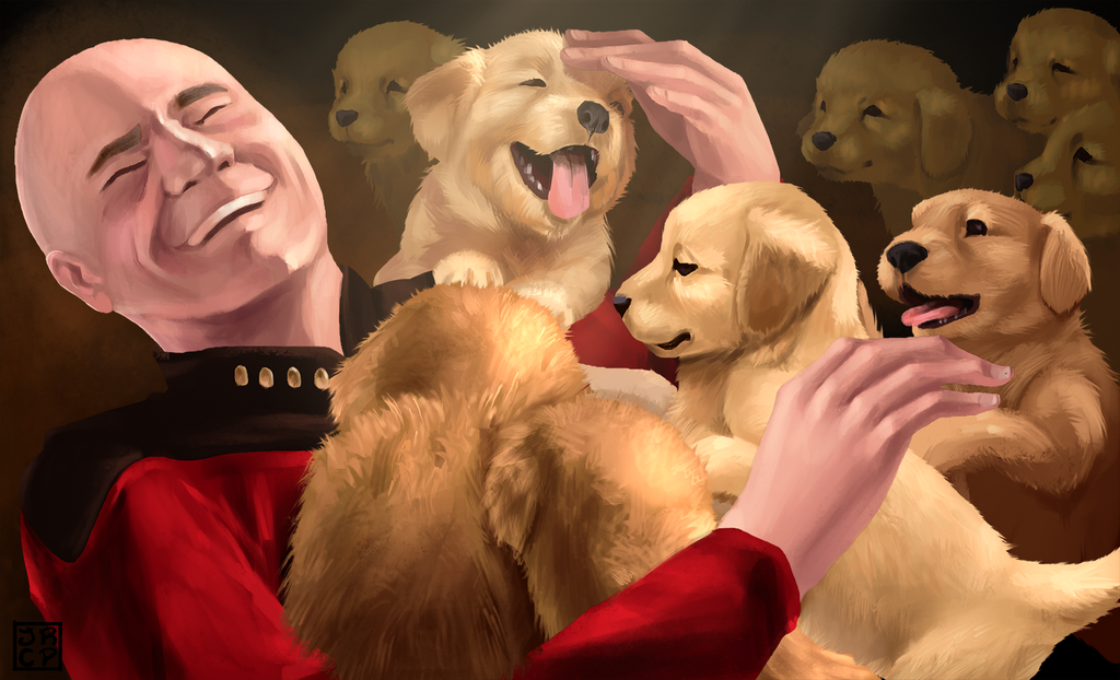 captain_picard_and_puppies_by_gryphon_shifter-d7kw3c1