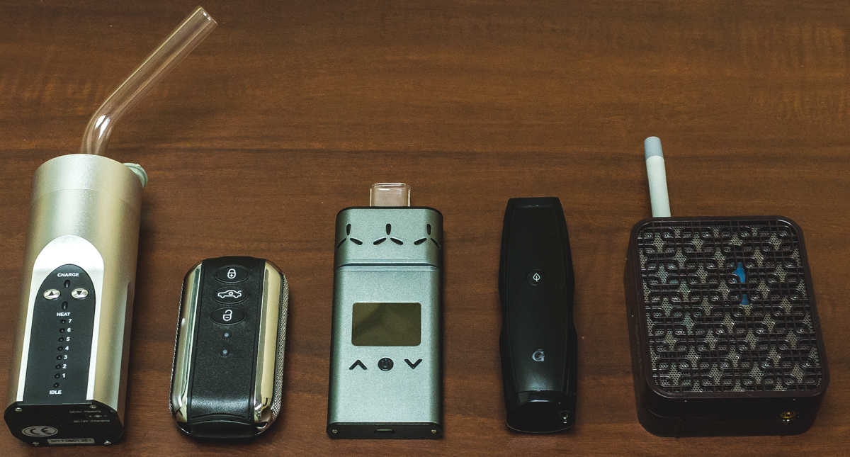 The Arizer Solo, Vaped FOB, AirVape Xs, G Pen Elite and Iolite WISPR