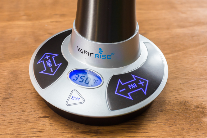 The Vapir Rise desktop vaporizer.